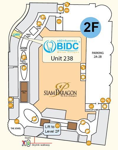 Map of BIDC at Siam Paragon